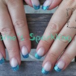 Acryl Blue Sparkling French